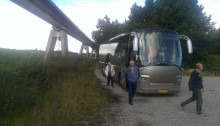 bus bij magneetbaan